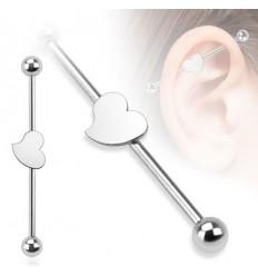 Industrial Piercing med Hjerte