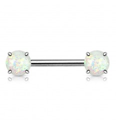 Brystpiercing med Syntetisk Opal