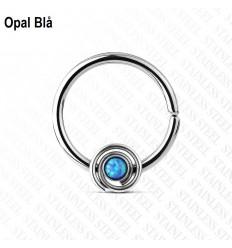 Endeløs Ring med Opal Sten og Twist