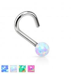 Næsepiercing med Opal