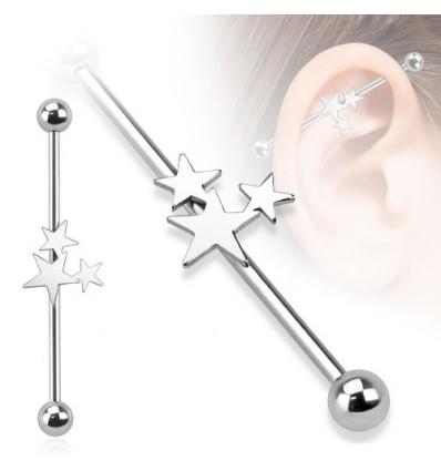 Industrial Piercing med 3 Stjerner
