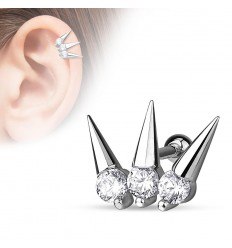 Helix Piercing med 3 Spikes