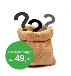 Pakke med 3 Navlepiercinger