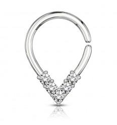 Pæreformet Ring med Stenspids