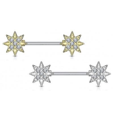Bryst Smykke med Krystal Stjerner