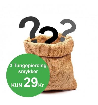Pakke med 3 Tungepiercinger