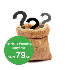 Pakke med 10 forskellige Helix Smykker