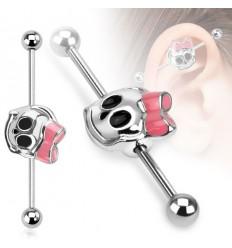 Industrial Piercing med Pige Skelet