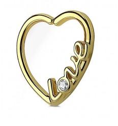Daith Smykke med Hjerte og Love