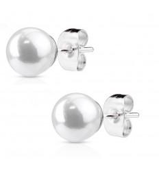Øreringe med Syntetisk Perle