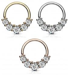 Piercing Ring med 5 Sten