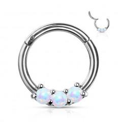 Clicker Ring med 3 Opalite Sten