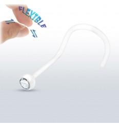 Næseskrue i Bioflex med Klar Sten