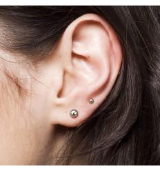 Titanium Øreringe med Kugle