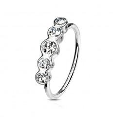 Piercing Ring med 5 Runde Sten