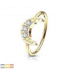Piercing Ring med Halvmåne