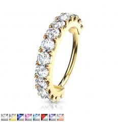Piercing Ring med Krystal Kant