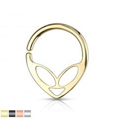Piercing Ring med Alien Motiv