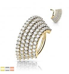 Piercing Ring med Bred Stenkant