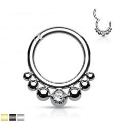 Piercing Ring med 7 Kugler