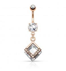 Navlepiercing med Diamant Formet Vedhæng