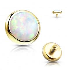 Guldbelagt Dermal med Opalite