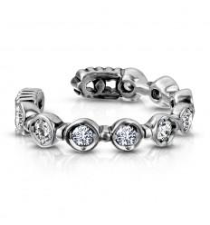 Fake Piercing Ring med 9 Sten