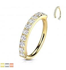 Piercing Ring med Stenkant