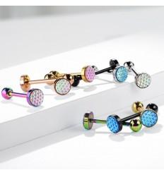 Tungepiercing med Multifarvet Skæl Design
