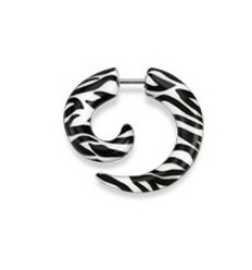 Fake Spiral i Zebra Design