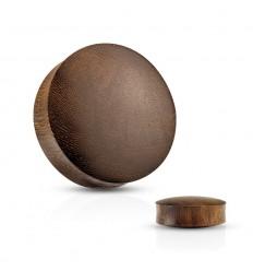Plug i Brun Snake Wood med Konveks Form