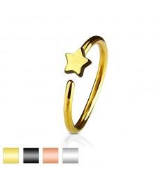 Piercing Ring med Stjerne