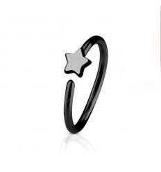 Piercing Ring med 5 Klare Sten