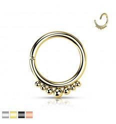 Piercing Ring med 7 Små Kugler