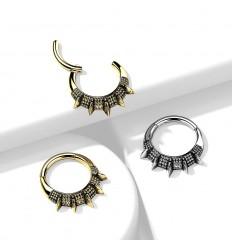 Piercing Ring med Spikes