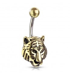 Navlepiercing med Tiger