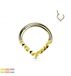 Piercing Ring med Pyramide Formet Mønster