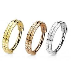 Dobbelt Piercing Ring med Takket Mønster