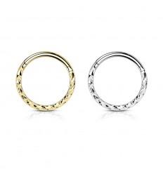 Piercing Ring med Chevron Mønster
