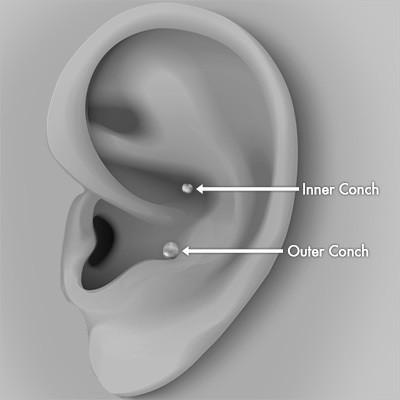 Conch piercing Smykker